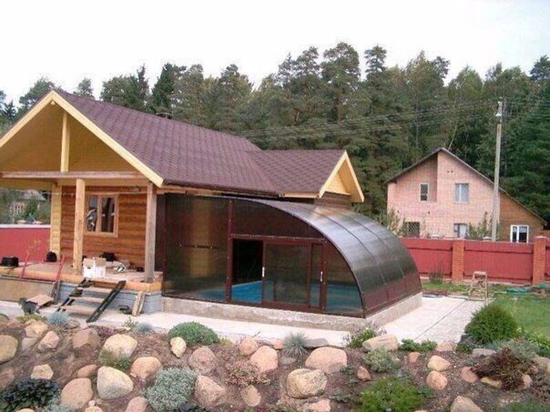 Как построить баню с бассейном своими руками 11